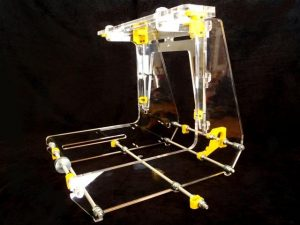 Side profile of thick acrylic Airwolf 3D Printer Frame