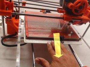 Move Bed Backward 3D Printer