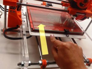 Move Bed Forward 3D Printer