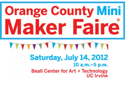 Logo for the OC Mini Maker Fair where Airwolf 3D will exhibit and perform 3d printer demonstrations