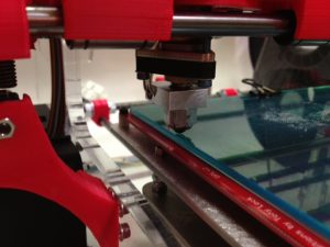 position height level 3D printer glass back rear left