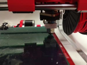 height level to 3D printer glass back rear right position