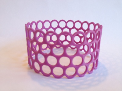 Purple Bracelet 3D Printed