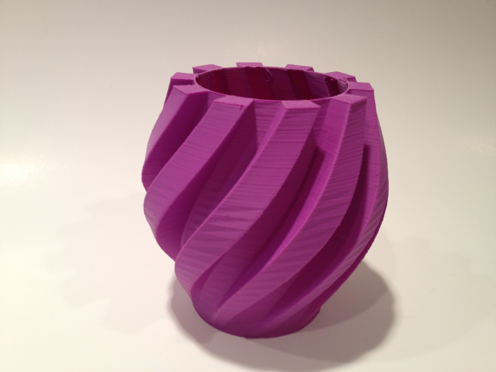 3D Printed Twisted Gear Vase with Nice Finish