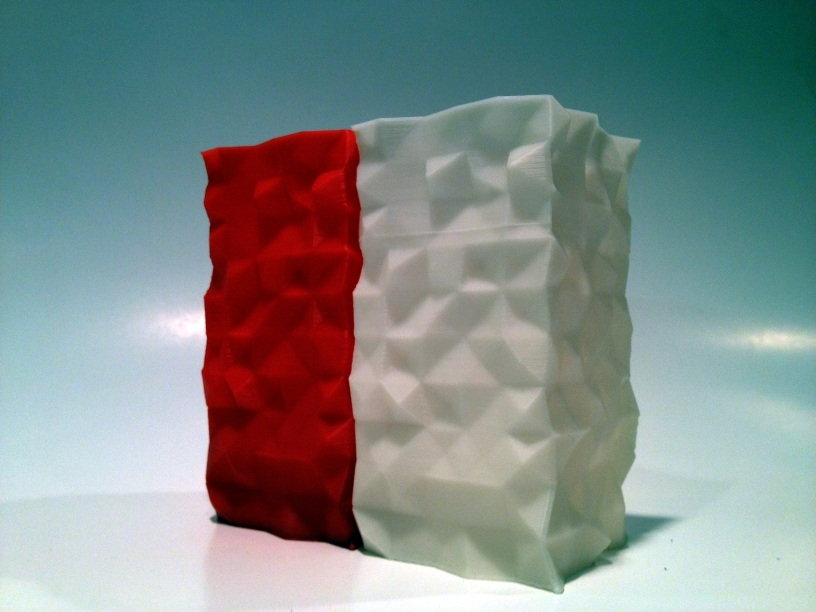 Nested Random Vases V2 in Red and White ABS