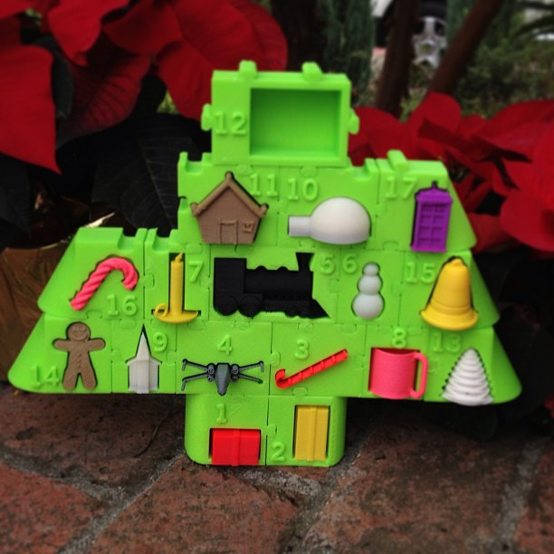3D Print an Advent Calendar Puzzle Gift Tree