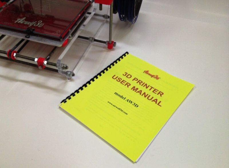 3D Printer User Manual (model AW3D v.4, v.5, v.5.5)