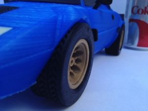 front tire detail of lancia stratos 3d printed large bigger