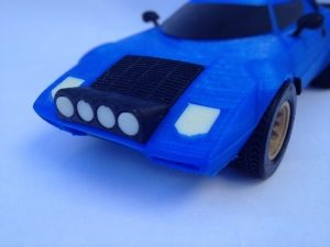 front hood detail lancia stratos 3d printed largest