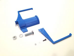 3d printer spool minder05 in blue printed with V.5