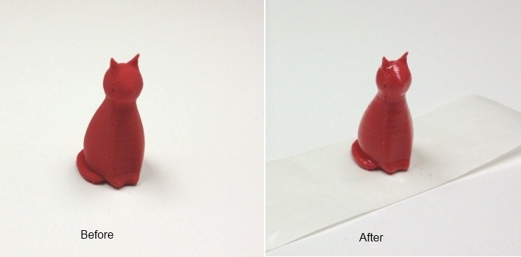 before and after coated ABS part