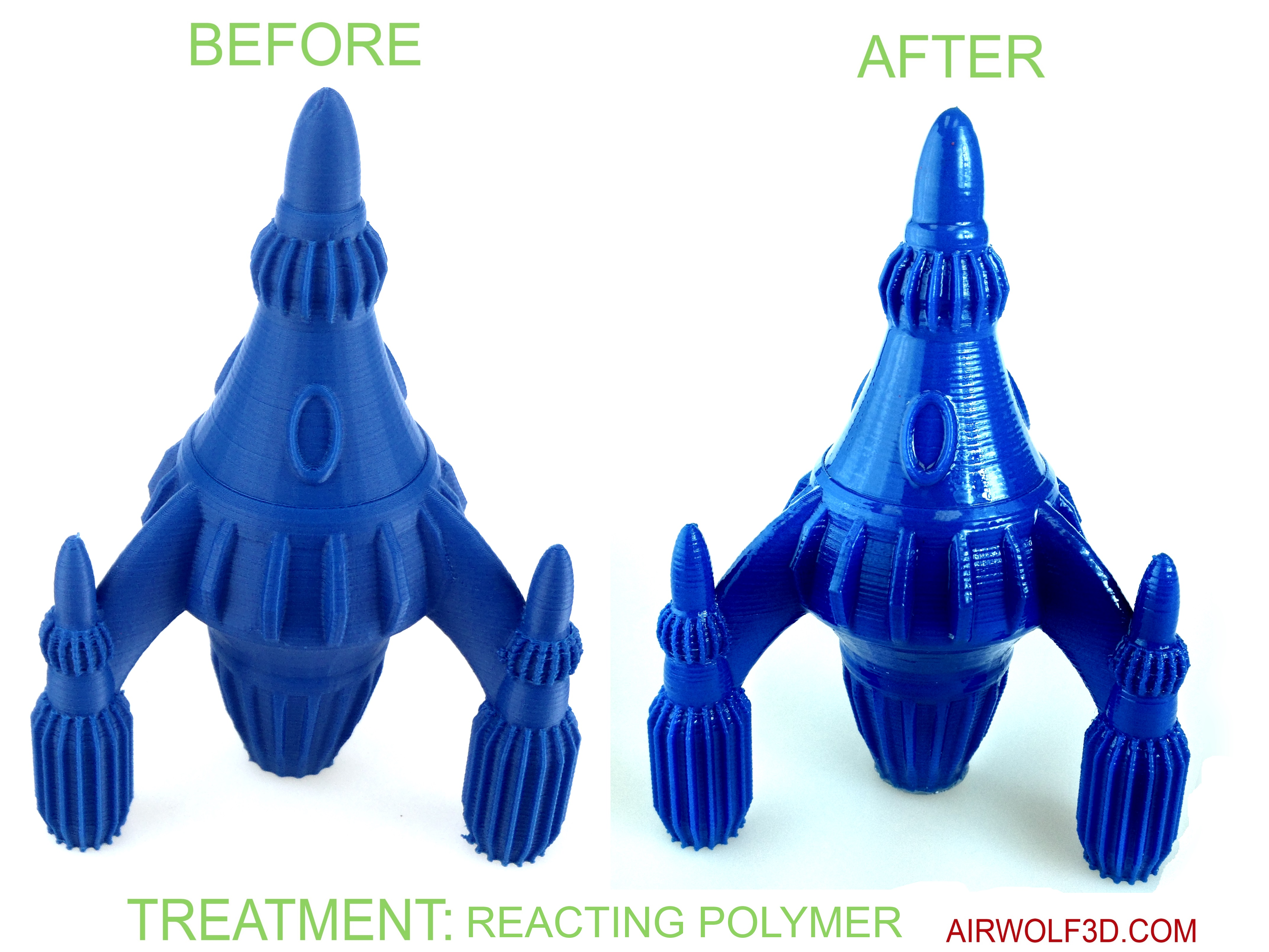 4 Steps to a Glossy ABS Part with Clear Reactive Polymer