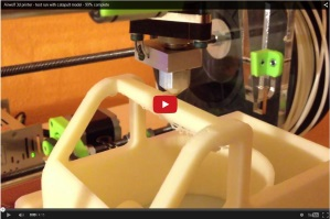 Airwolf 3D printer performs test run with capapult model