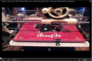 Video of Very First 3D Printed Object from Airwolf 3d printer