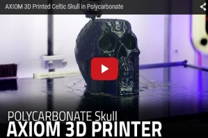 AXIOM 3D printed Celtic Skull in Polycarbonate