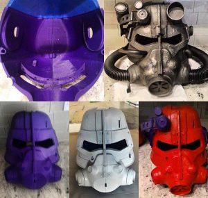 Airwolf 3D printed Fallout Helmet