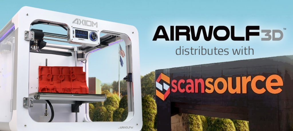 Airwolf 3D Announces Distribution with ScanSource