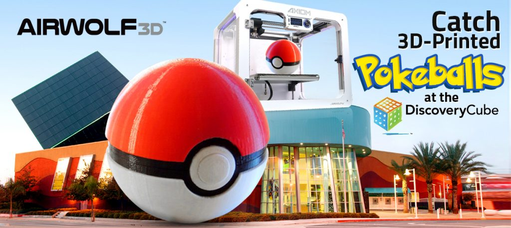 Win 3D-printed Pokeballs at the Discovery Cube!