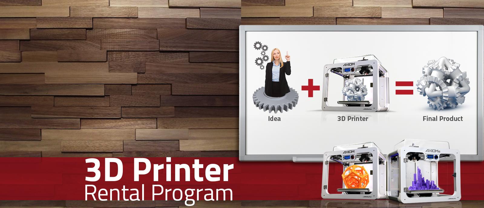 3D Printer Rental Program