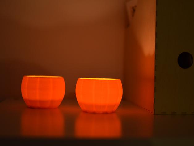 3D Printed Pumpkin Lights