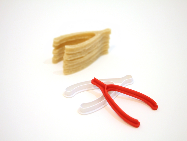3D Printed Wishbone Cookie Cutters
