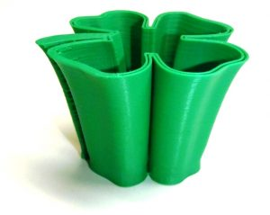 3d Printed Green Smooth Shamrock Shot Glass