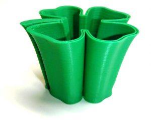 3d Printed Green Smooth Shamrock Shot Glass