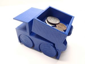 3d printed tiny toy dump truck, no assembly required