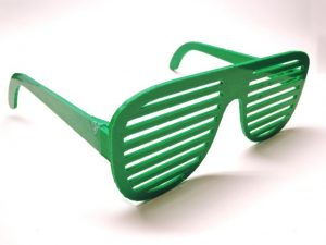 3D Printed Glasses or Shutter Shades in Green