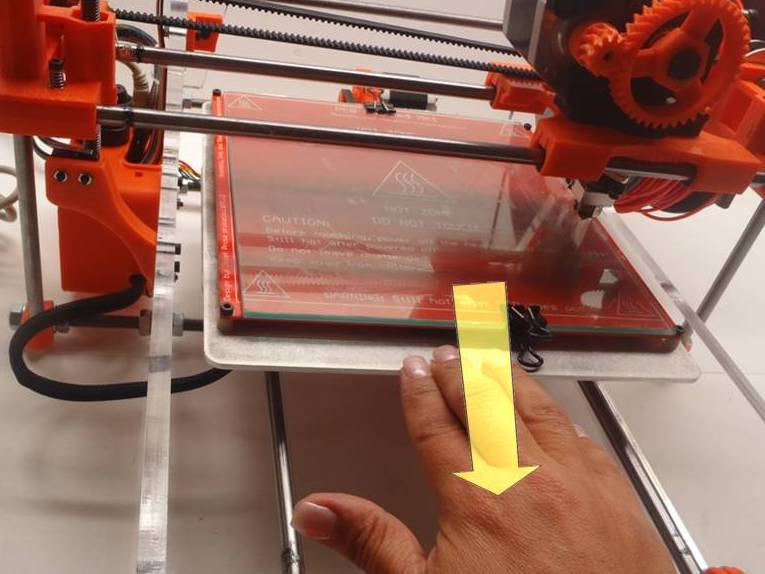 Move Bed Backward 3D Printer