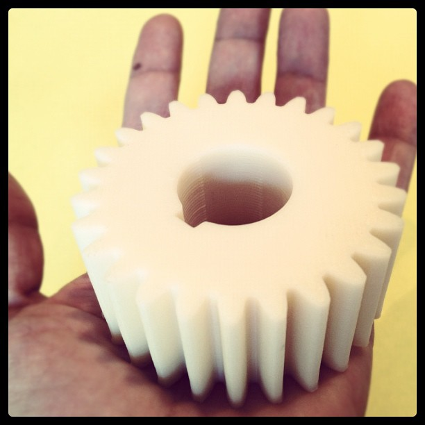 3D printd large solid gear in ABS