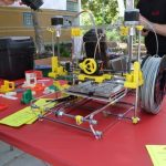3d printer at OC Maker Faire on Red Table