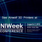 Airwolf 3D Printers at NI Week for National Instruments Demo