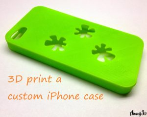 3d print custom green iphone cover case
