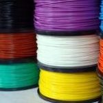abs filament spools in various colors
