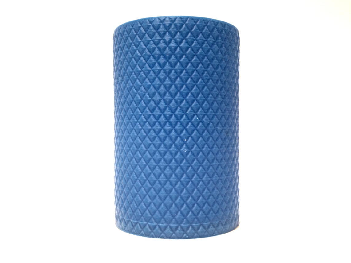 Knurled Pencils Pot 3d printed with blue abs
