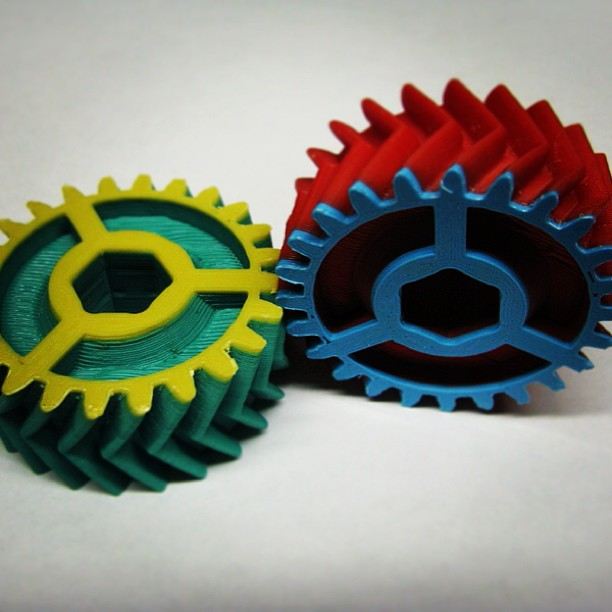 Automatic transmission model gears made with an airwolf 3d printer