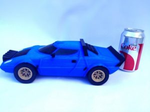 side scale photo of lancia stratos 3d printed large