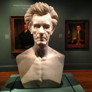 Photograph of bust of Andrew Jackson
