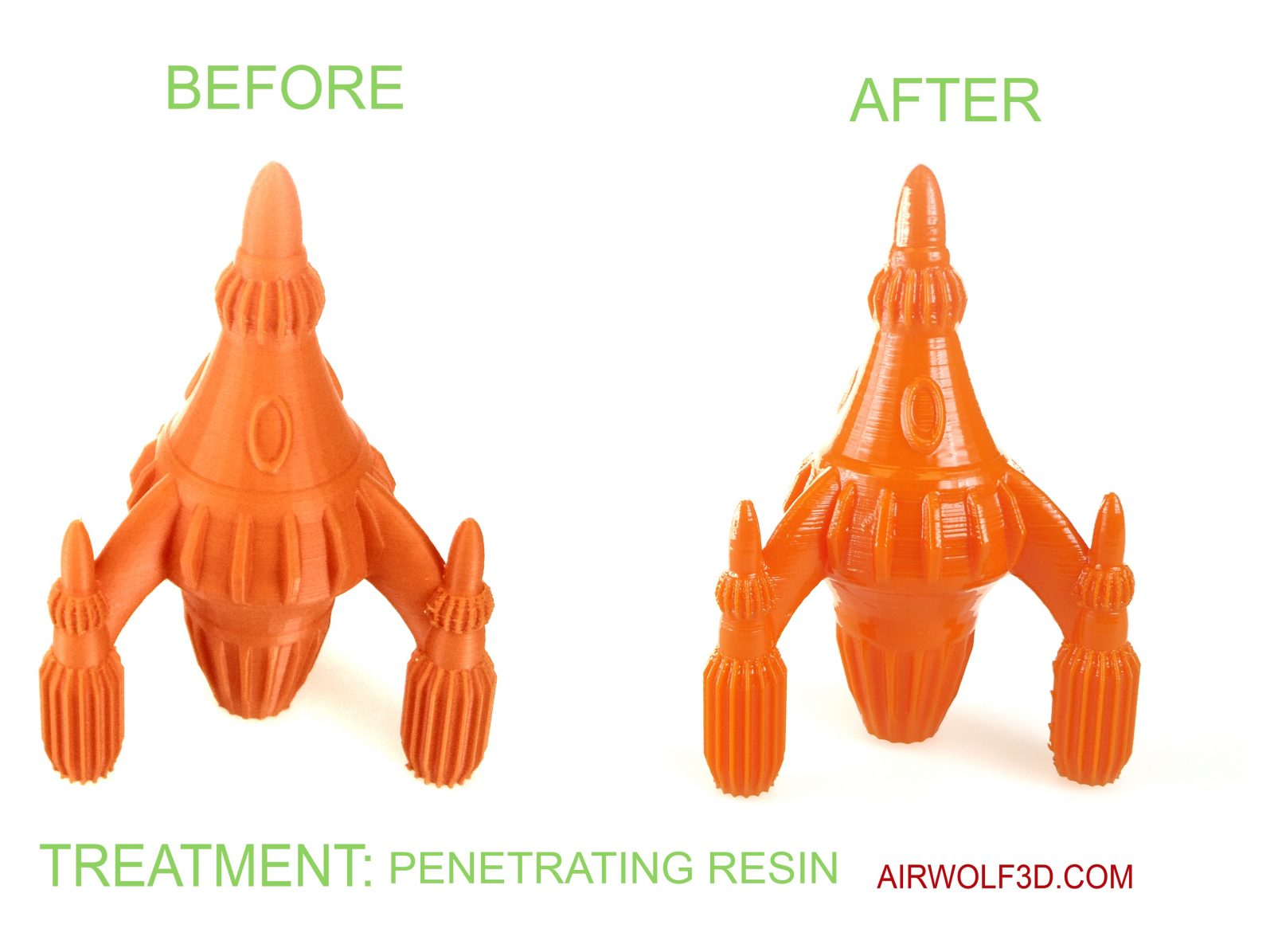 Penetrating resin abs 3d printed parts 2