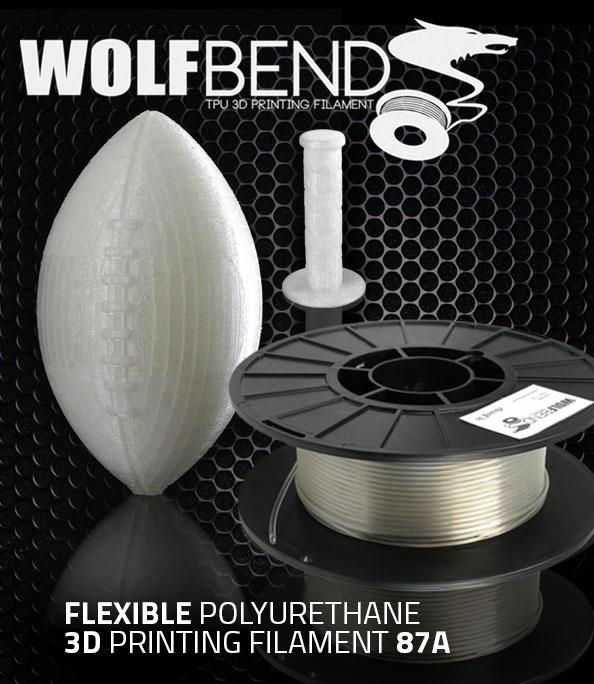New Wolfbend Tpu 3d Printing Filament Airwolf 3d