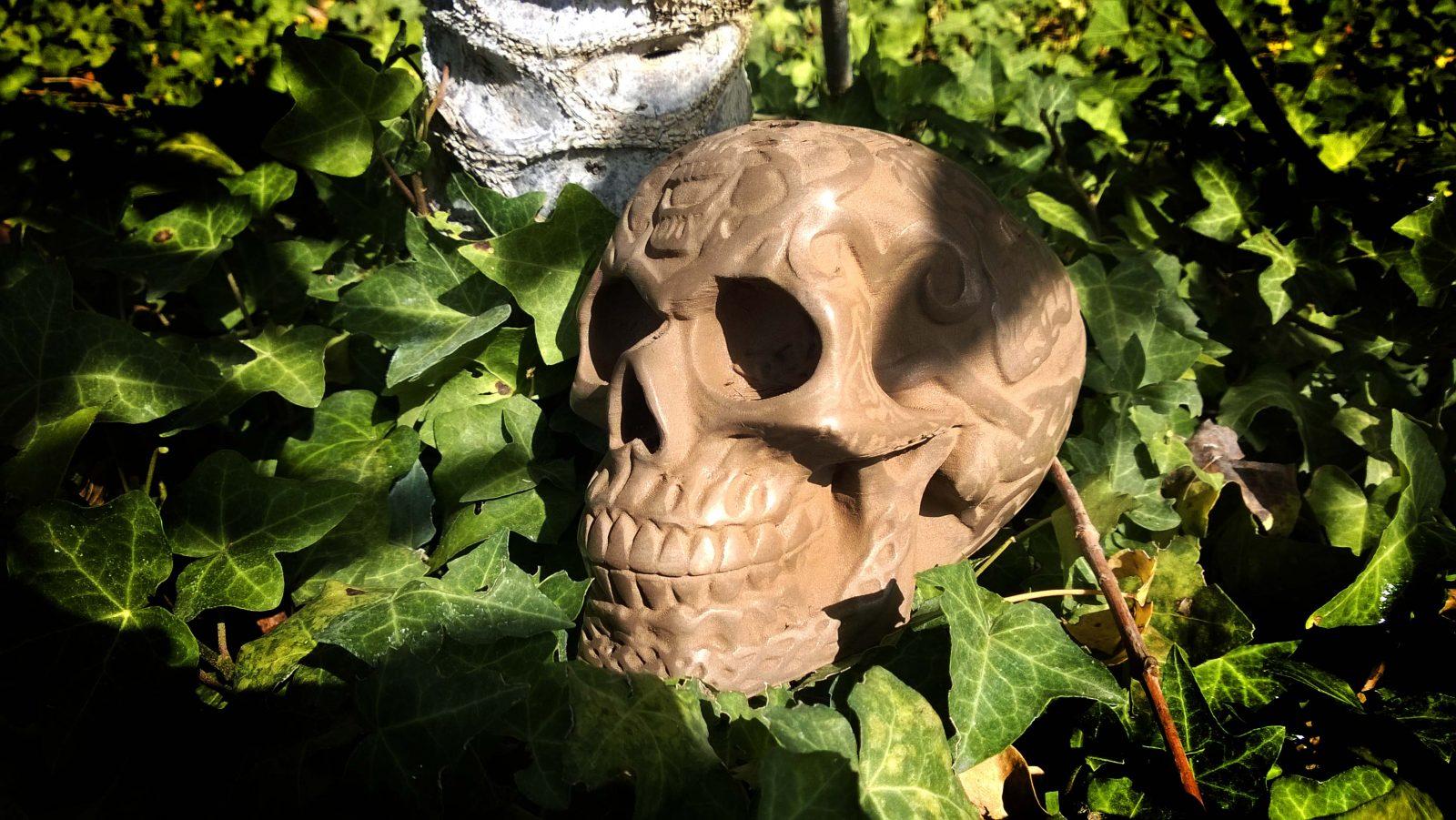 3D Printed Bronze Skull