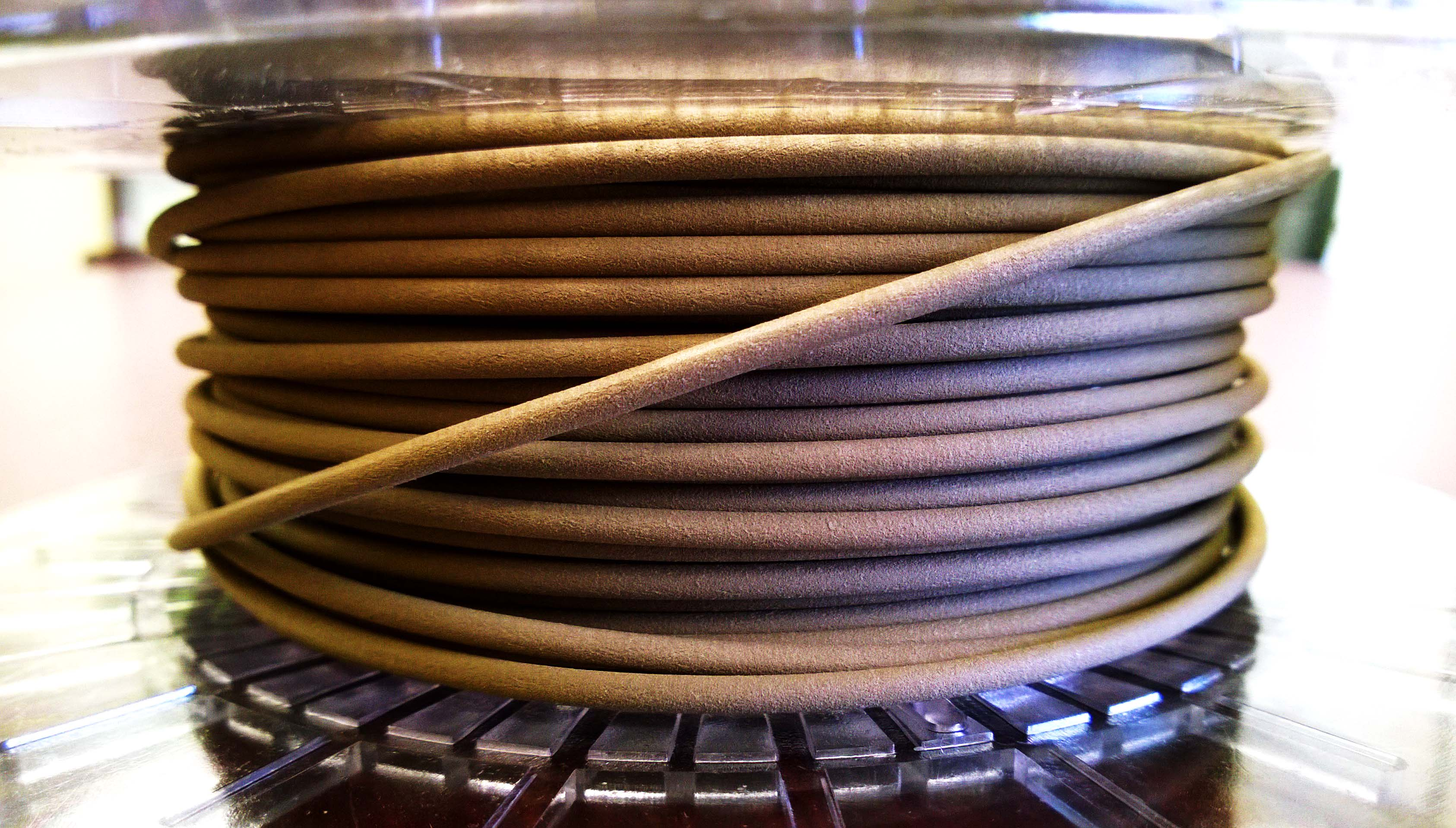 3D Printed Bronze filament spool