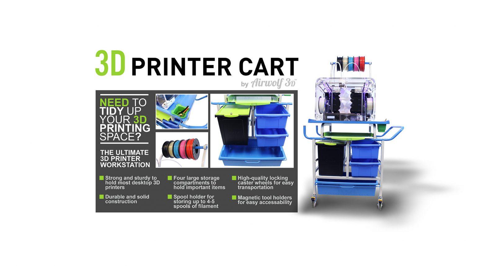 announcing the new 3d printer cart from airwolf 3d - Printer Cart