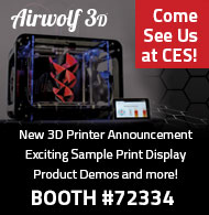 Airwolf 3D Printers at CES