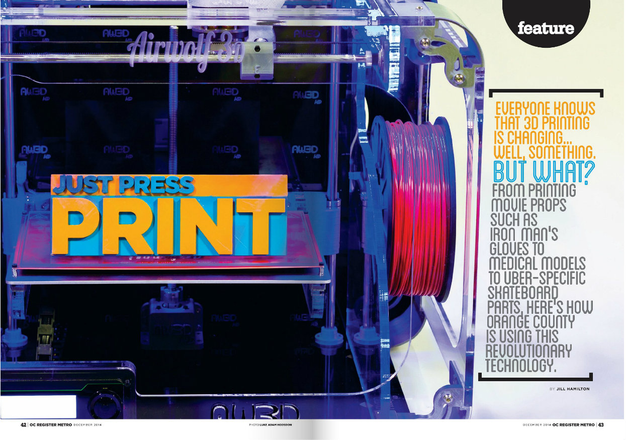 OC Metro : Just Press Print | Airwolf 3D