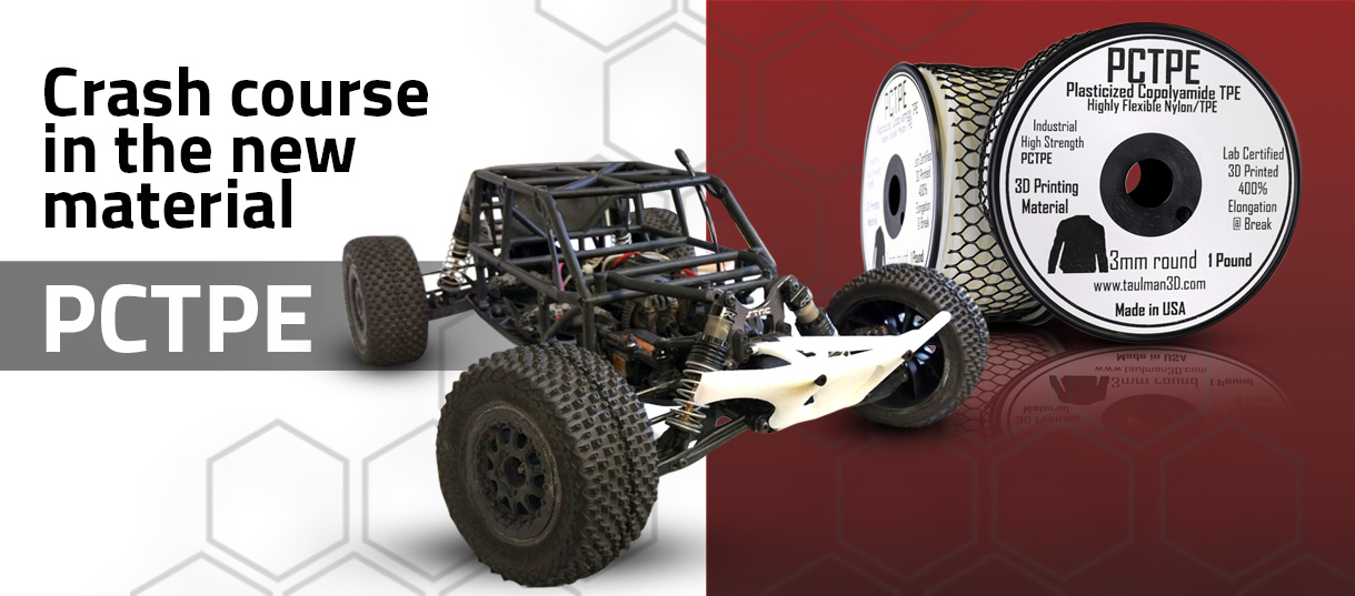PCTPE prototype skid plate on RC car