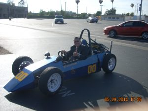 Anaheim High School Electric Vehicle driven by Superintendent Mike Matsuda