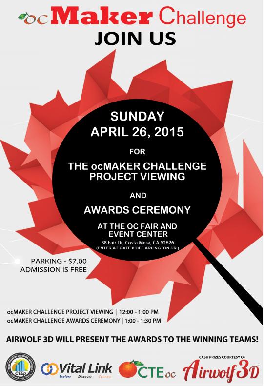 ocMaker Challenge 2015 Flier