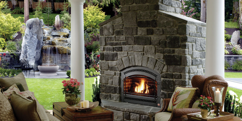Ceramic Glass Outdoor Fireplace
